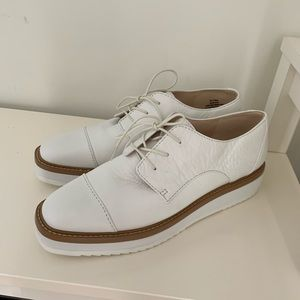 Nine West leather platform oxfords
